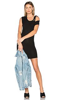 Мини платье с открытыми плечами kris - Riller & Fount