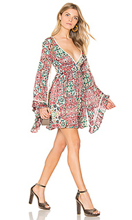 Sunset rose bell sleeve dress - Raga