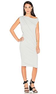 Драпированное платье на одно плечо - James Perse