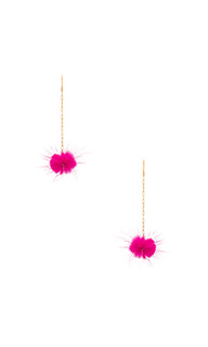 Decades pom pom earrings - Vanessa Mooney