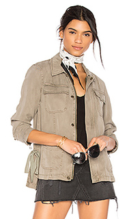 Cargo jacket with side ties - Pam & Gela