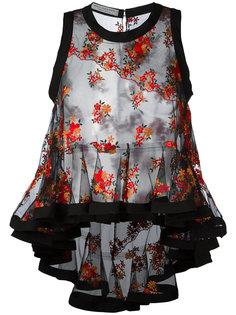 прозрачная блузка с цветочной вышивкой Philosophy Di Lorenzo Serafini