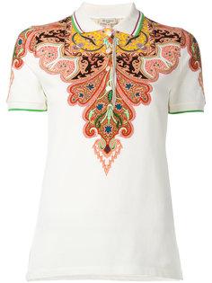 рубашка-поло с узором пейсли Etro