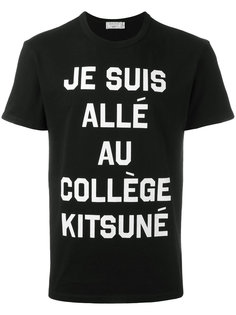 футболка с надписью Maison Kitsuné