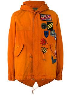 пальто с нашивками и капюшоном Mr & Mrs Italy