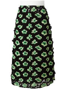 сетчатая юбка миди Floral Marni