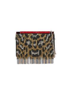 сумка на плечо с леопардовым принтом Christian Louboutin