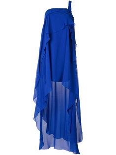 асимметричное многослойное платье  Alberta Ferretti