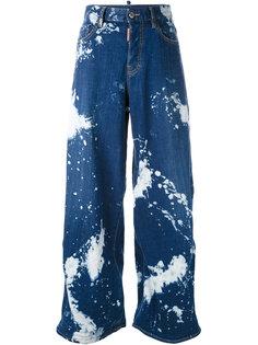 джинсы с пятнистым принтом Dsquared2