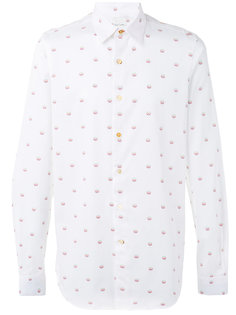 peace embroidered shirt Paul Smith