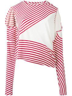 полосатый асимметричный свитер Mm6 Maison Margiela