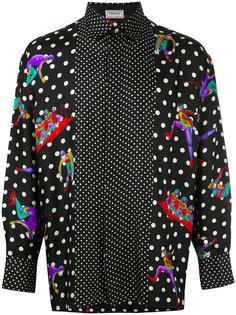 рубашка в горох Versace Vintage
