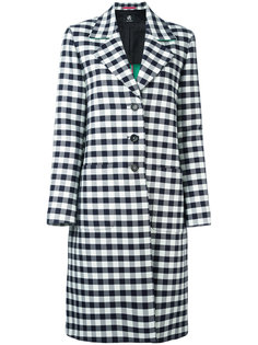 checked single-breasted coat Ps By Paul Smith