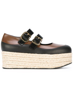 double strap espadrille platform loafers Marni
