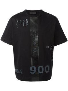 printed numbers T-shirt  Diesel Black Gold
