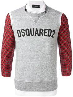 толстовка с логотипом и имитацией рубашки-поло Dsquared2