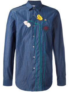 рубашка с вышитыми цветами Paul Smith