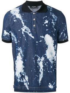 футболка-поло с пятнистым принтом Dsquared2