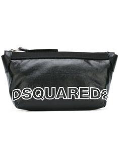 двухцветный несессер с логотипом Dsquared2