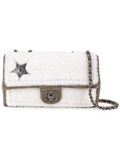 сумка на плечо с отделкой из овчины Chanel Vintage
