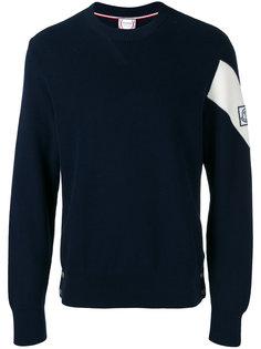 трикотажный свитер с логотипом Moncler Gamme Bleu