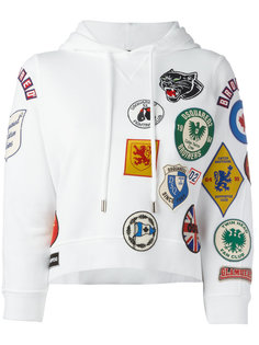 patch pullover hoodie Dsquared2