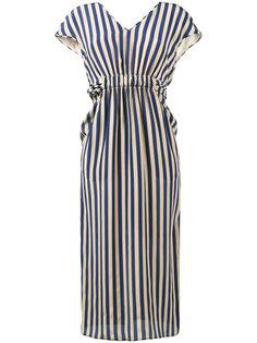 полосатое платье с V-образным вырезом Fendi