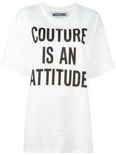 футболка свободного кроя Moschino