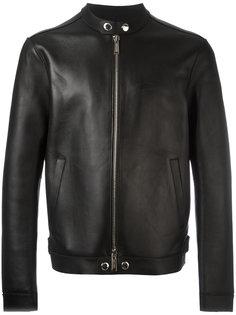 байкерская куртка без лацканов Dsquared2