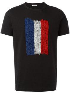 футболка с принтом французского флага Moncler