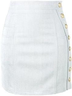 джинсовая мини-юбка Balmain