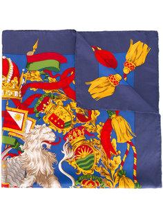 шарф с принтом герба Gianfranco Ferre Vintage
