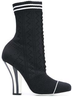 ботинки на высоком каблуке Fendi