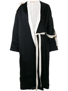 объемное пальто с поясом Marni