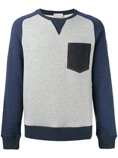 толстовка с джинсовым карманом Moncler