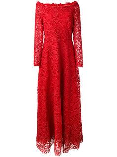 кружевное вечернее платье Valentino