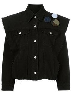 джинсовая куртка со съемными рукавами Mm6 Maison Margiela