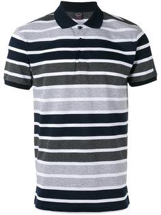 футболка-поло с контрастным воротником Paul & Shark