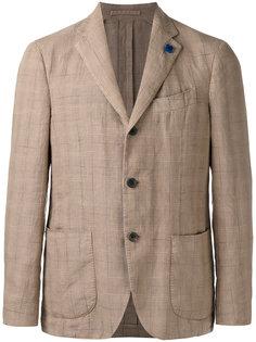 пиджак с узором в клетку Lardini