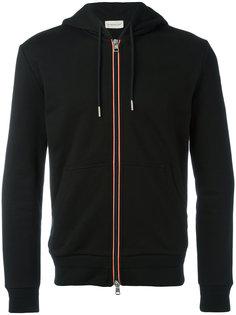 striped trim zipped hoodie Moncler