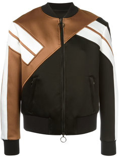 куртка-бомбер  с полосатыми рукавами Neil Barrett