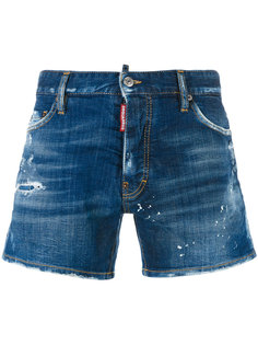 джинсовые шорты с рваными деталями Dsquared2