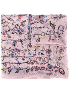 платок Heart Chain Alexander McQueen