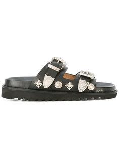 сандалии с металлическими пряжками Toga
