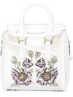 сумка-тоут Heroine с цветочной вышивкой Alexander McQueen