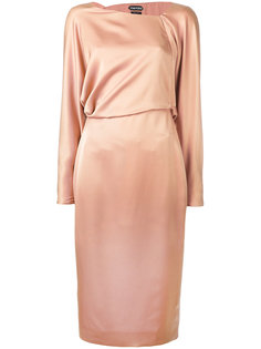 платье с асимметричной горловиной Tom Ford