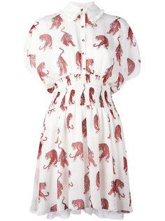 платье-рубашка с принтом тигров Giamba