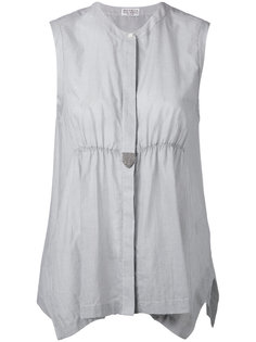 блузка со сборками на талии Brunello Cucinelli