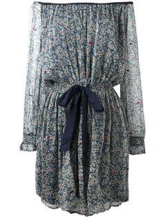 платье с открытыми плечами и цветочным узором Twin-Set