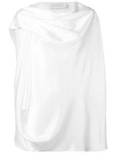 блузка с драпированной горловиной Gianluca Capannolo